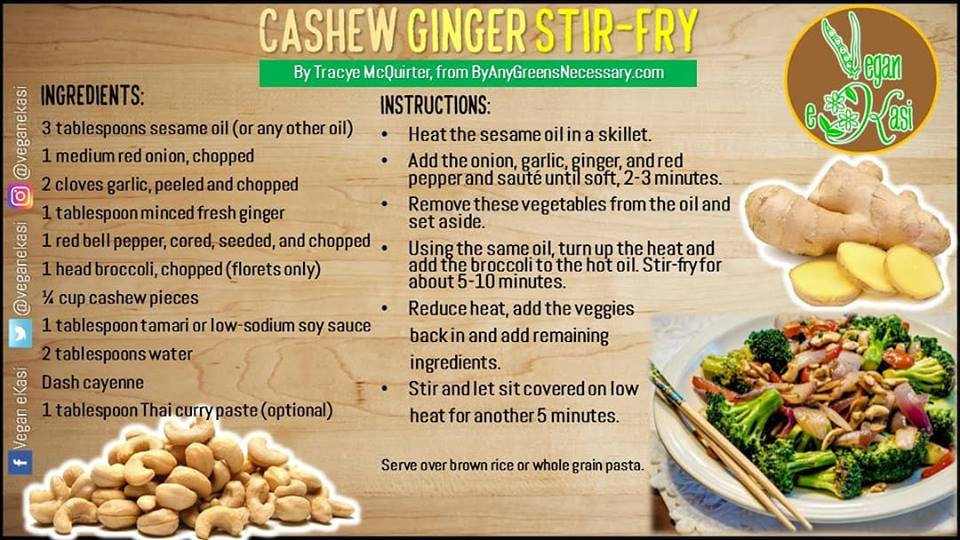 Cashew and Ginger Stir Fry