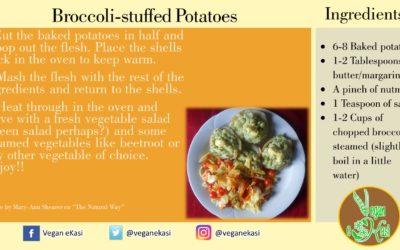 Broccoli-stuffed Potatoes