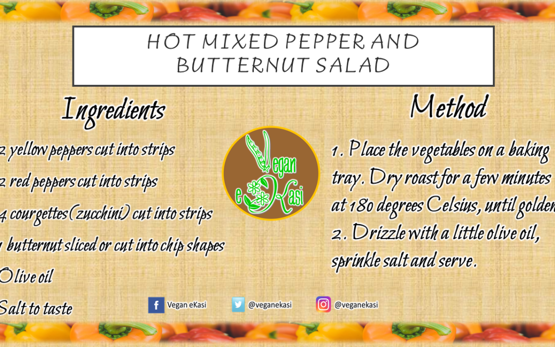 Hot Mixed Pepper and Butternut Salad