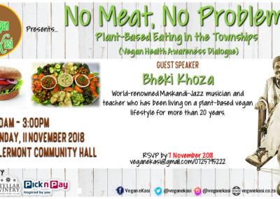 No Meat No Problem Vegan eKasi Launch Poster-1