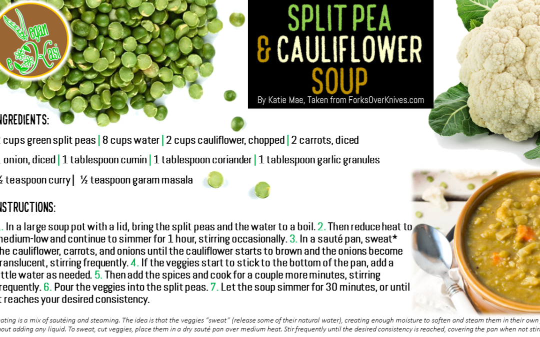 Split Pea & Cauliflower Soup