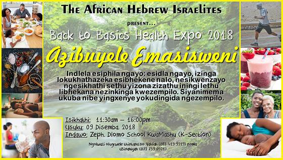 Back to Basics Health Expo 2018 KwaMashu