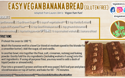 Easy Vegan Banana Bread (Gluten Free)
