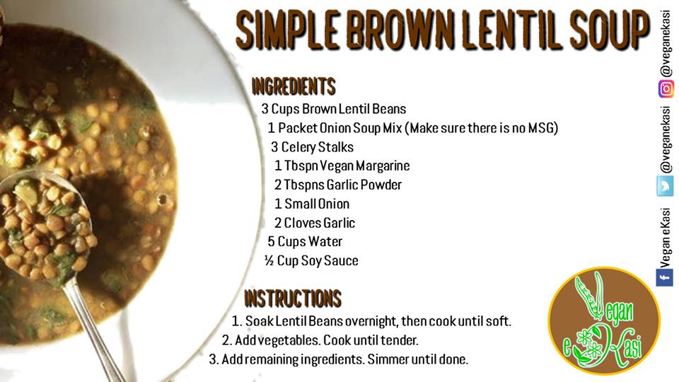 Simple Brown Lentil Soup