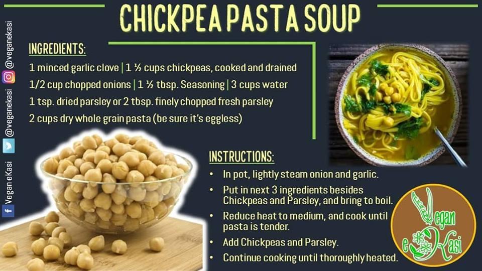 Chickpea Pasta Soup