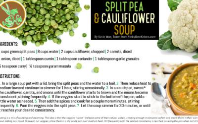 Split Pea & Cauliflower Soup