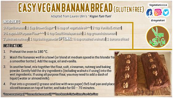 Easy Vegan Banana Bread (Gluten Free)